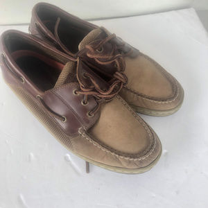 Sperry Topsider Two Tone Leather Boat Shoes